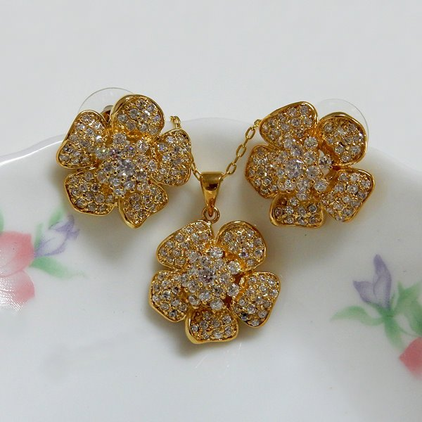 Flower Design Jewelry Set