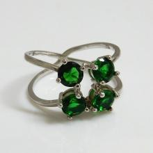 Green Round Ring