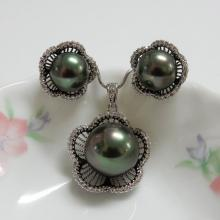 Pearl and CZ Fashion Jewelry Set