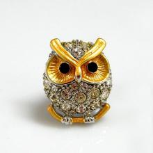 Two Tone Owl Brooch