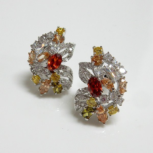 Multicolor Bridal Earrings